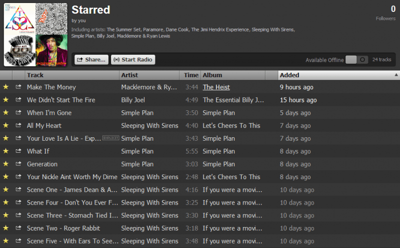Star Playlist
