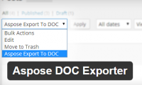 Bulk Export Wordpress Posts to Word DCOX Format with Aspose Doc Exporter
