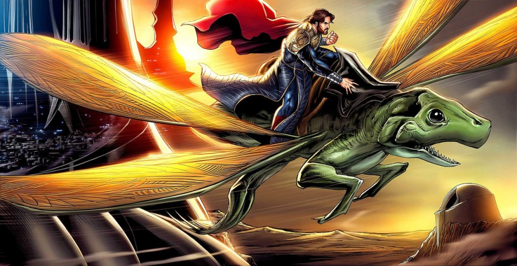 Roberts' artwork that was featured in the Man of Steel: The Fate of Krypton children's book. Found on his deviantART site.