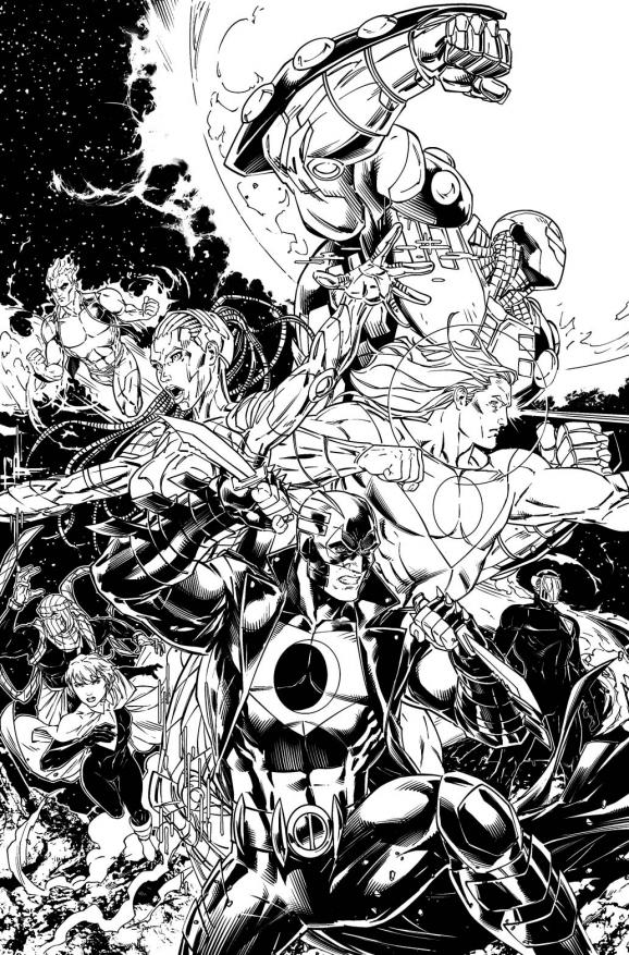 Roberts' promotional art for Stormwatch #30.