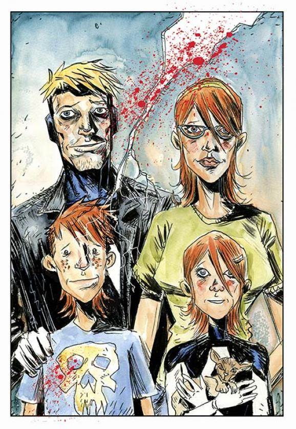 Cover to Animal Man 29 by Jeff Lemire.