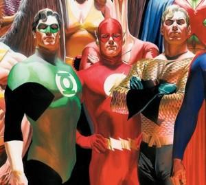 Green Lantern, The Flash, and Aquaman