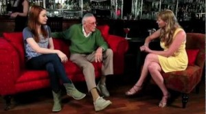 Jenna with Stan Lee and Felicia Day on 'Cocktails with Stan'