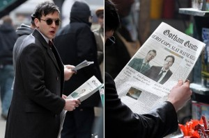 Robin Lord Taylor (Cobblepot) on the set of 'Gotham'