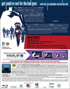 'Batman: Assault on Arkham' Blu-ray back cover