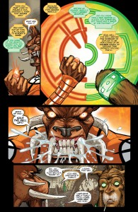 LARFLEEZE #12 - Larfleeze's and G'nort's rings argue whose owner is worse.