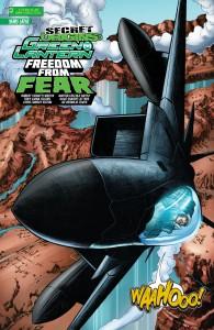 SECRET ORIGINS #3: Hal Jordan whoops joyfully while flying a plane