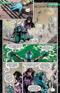 GREEN LANTERN: NEW GUARDIANS #32: Carol tries to convince the Guardians to search for Kyle