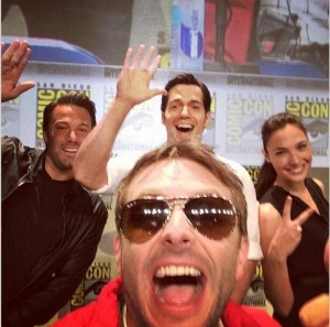 Chris Hardwick, the host of the Warner Bros panel with the stars of the film
