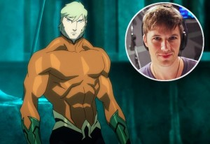 Aquaman and his voice actor, Matt Lanter