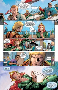 Secret Origins 5 - Mera - Mera flees a diner in panic