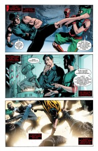 Secret Origins 5 - Red Hood - a training sequence featuring truly painful dialogue