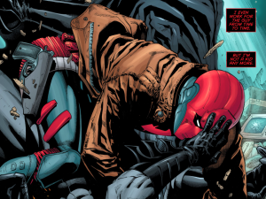 Secret Origins 5 - Red Hood - Red Hood and Batman fight it out