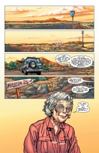 Astro City 14 - a truck approaches Ellie's museum.