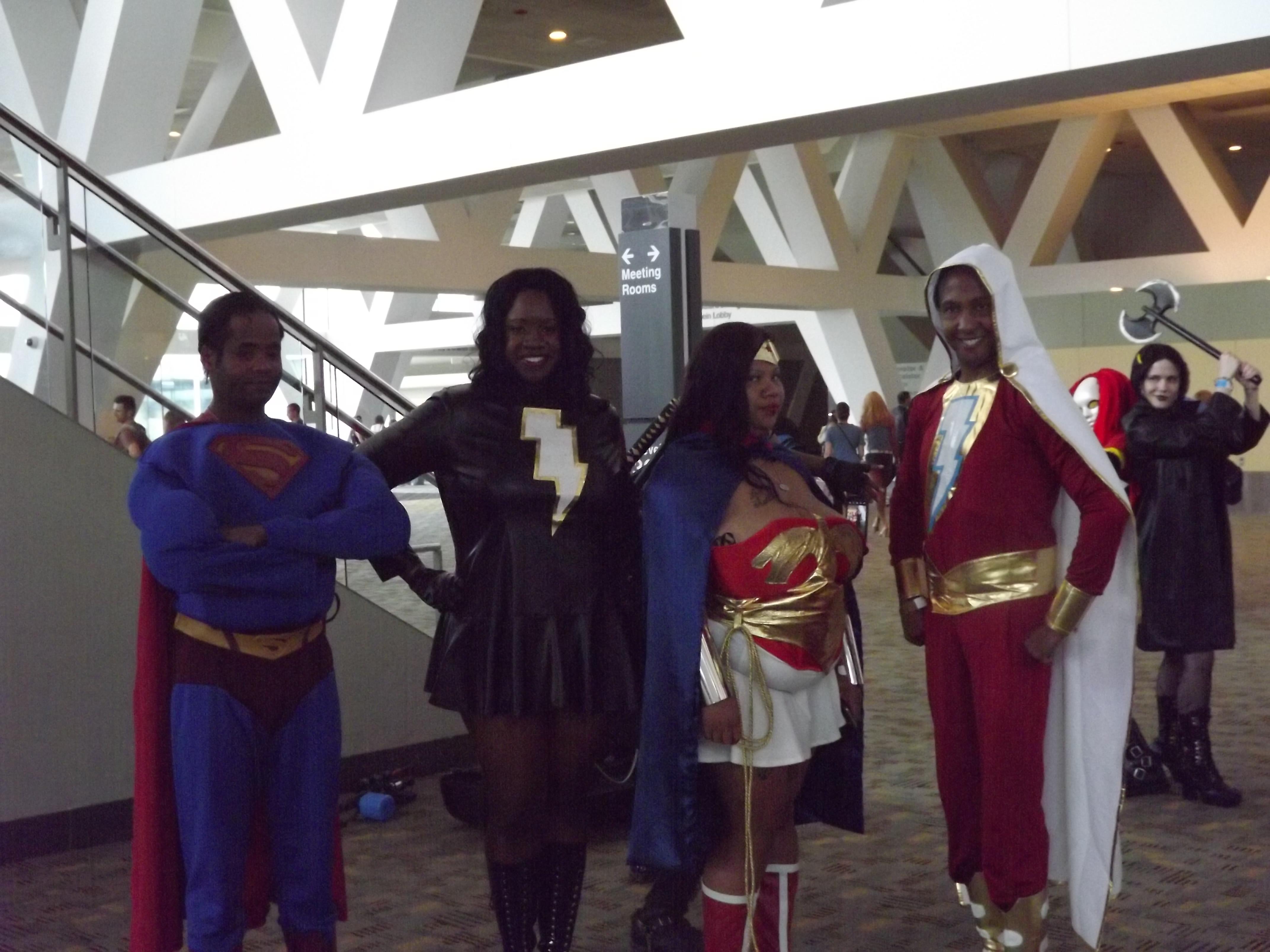 Superman, Mary marvel, WW and Shazam