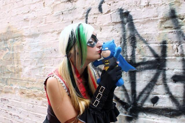 Adrienne Brynteson as Harley Quinn at Dragon Con 2014.