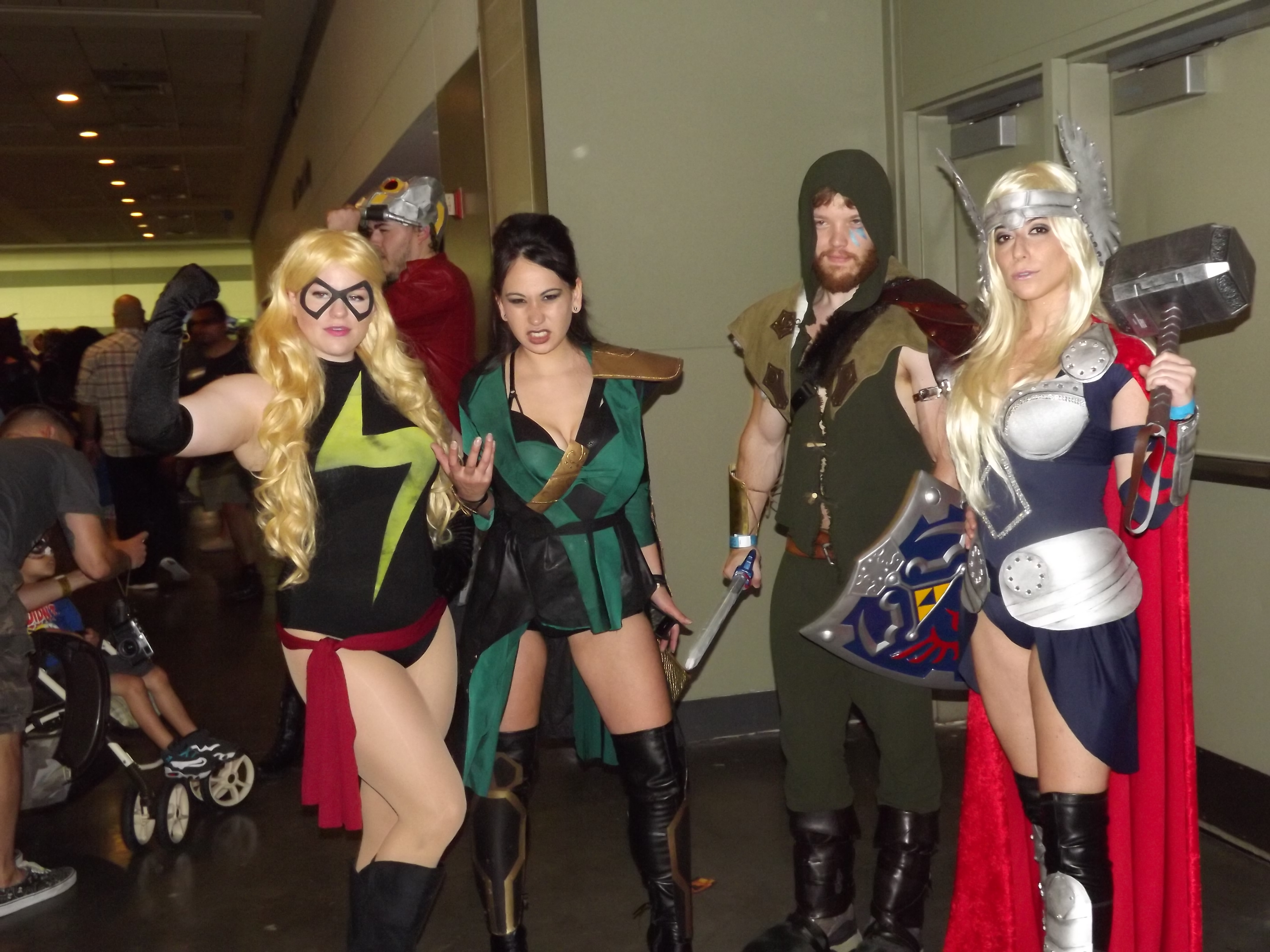 Ms. Marvel, Cheshire, Green Arrow and Thor