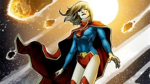 Supergirl in asteroid field