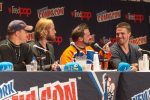 Stephen Amell and Kevin Smith