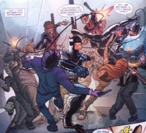 Batman Eternal 27 Bat and Cat fighting together