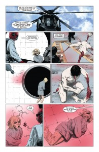 GI Zombie pulling himself together: Star Spangled War Stories - Futures End 001