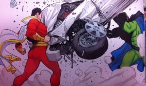 Thunderworld Captain Marvel and Car