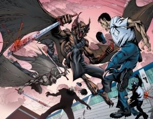 Suicide Squad 5 Man Bats Attack