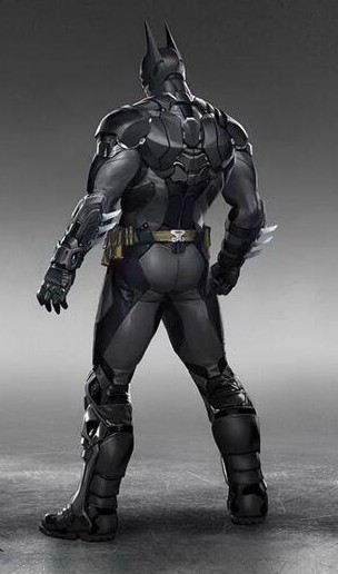 Batman Arkham Knight Batsuit back view