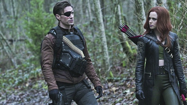 "Arrow--""Suicidal Tendencies""--Image AR317A_0021b--Pictured (L-R): Michael Rowe as Floyd Lawton/Deadshot, and  Amy Gumenick as Cupid--Photo: The CW--© 2015 The CW Network, LLC. All rights reserved."