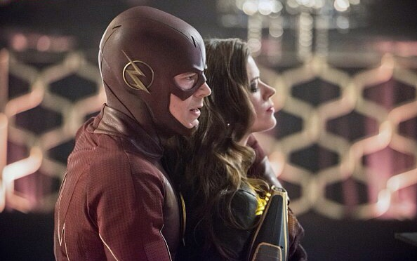 "The Flash -- ""Rogue Time"" -- Image FLA116B_0149b -- Pictured (L-R): Grant Gustin as Barry Allen/Flash and Peyton List as Lisa Snart -- Photo: Dean Buscher/The CW -- © 2015 The CW Network, LLC. All rights reserved."