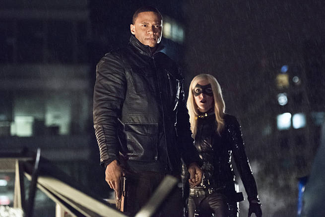"Arrow -- ""Al Sah-Him"" -- Image AR321A_0277b -- Pictured (L-R): David Ramsey as John Diggle and Katie Cassidy as Black Canary -- Photo: Dean Buscher/The CW -- © 2015 The CW Network, LLC. All Rights Reserved."