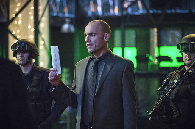 "Arrow -- ""Broken Arrow"" -- Image AR319B_0097b -- Pictured: Paul Blackthorne as Quentin Lance -- Photo: Cate Cameron/The CW -- © 2015 The CW Network, LLC. All Rights Reserved."