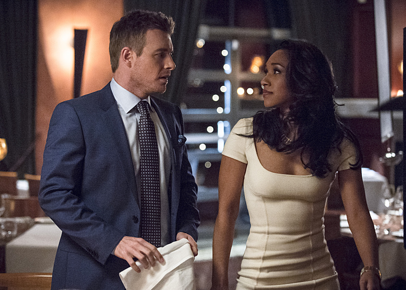 "The Flash -- ""All Star Team Up"" -- Image FLA118A_0276b -- Pictured (L-R): Rick Cosnett as Detective Eddie Thawne and Candice Patton as Iris West -- Photo: Cate Cameron/The CW -- © 2015 The CW Network, LLC. All rights reserved"