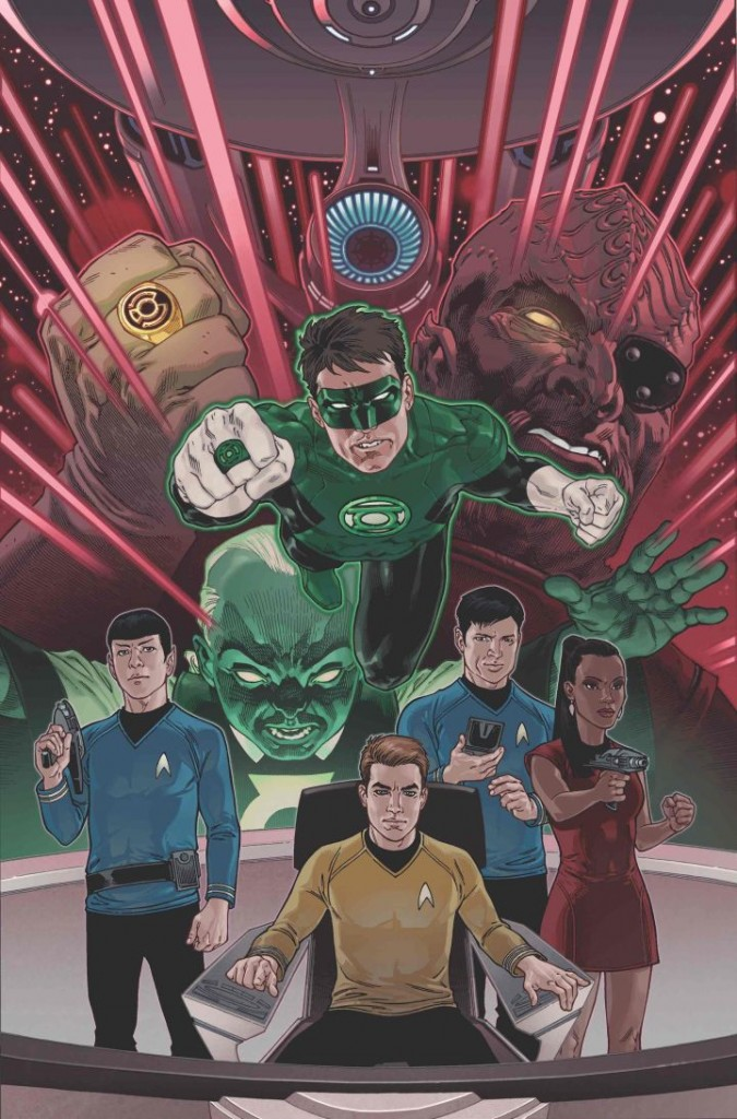 """Star Trek/Green Lantern: The Spectrum War"" variant cover by Gabriel Rodriguez."