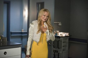 "Arrow -- ""Public Enemy"" -- Image AR318A_0107b -- Pictured: Charlotte Ross as Donna Smoak -- Photo: Diyah Pera/The CW -- © 2015 The CW Network, LLC. All Rights Reserved."