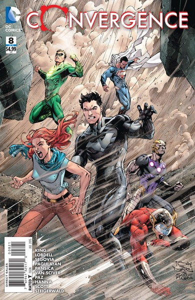Convergence #8 variant cover (art by Tony Daniel with Mark Morales and Tomeu Morey)