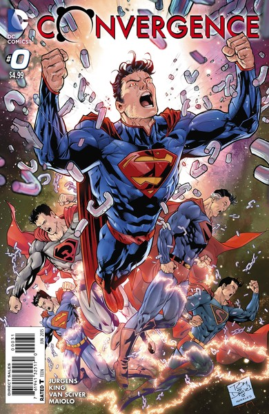 Convergence #0 variant cover (art by Tony Daniel with Mark Morales and Tomeu Morey)