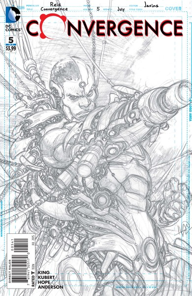 Convergence #5 sketch variant cover (art by Ivan Reis)
