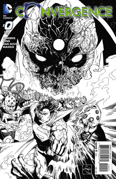 Convergence #0 variant cover (art by Ethan Van Sciver)