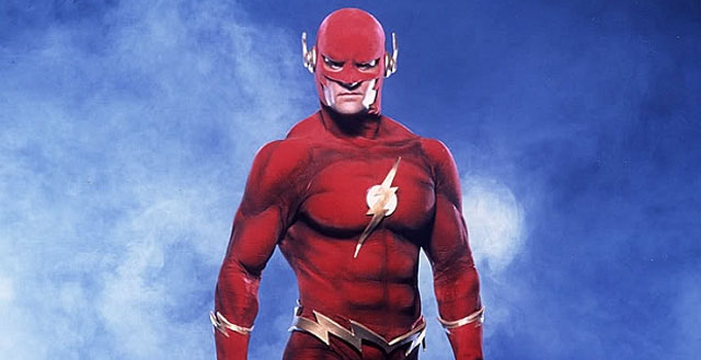 John Wesley Shipp as The Flash/Barry Allen