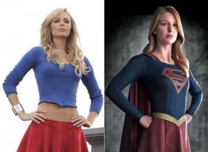 "Laura Vandervoort (""Smallville"") and Melissa Benoist (""Supergirl"") as Kara Zor-El."