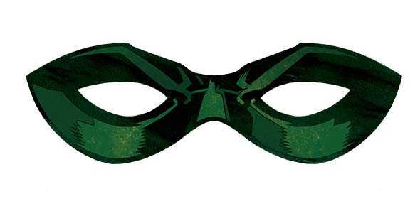 """""""Robin: Son of Batman"""" paper domino mask (Available June 17)"""