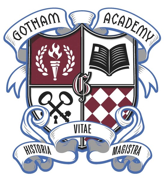 """Gotham Academy"" crest sticker (Available June 10)"