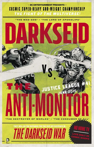"""""""Justice League"""" Darkseid vs. Anti-Monitor 11"""" x 17"""" poster, art by Jason Fabok (Available June 3)"""