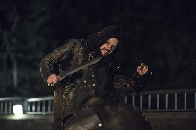 "Arrow -- ""My Name is Oliver Queen"" -- Image AR323C_0295b -- Pictured: Matt Nable as Ra's al Ghul -- Photo: Cate Cameron/The CW -- © 2015 The CW Network, LLC. All Rights Reserved."