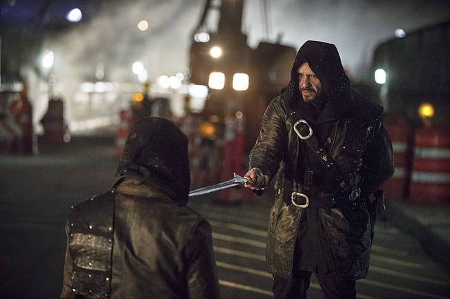 "Arrow -- ""My Name is Oliver Queen"" -- Image AR323C_0323b -- Pictured: Matt Nable as Ra's al Ghul -- Photo: Cate Cameron/The CW -- © 2015 The CW Network, LLC. All Rights Reserved."