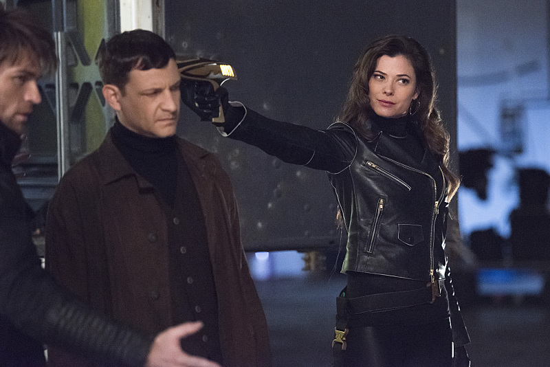 "The Flash -- ""Rogue Air"" -- Image FLA122A_0400b -- Pictured (L-R): Liam McIntyre as Mark Mardon, Paul Anthony as Roy G. Bivolo and Peyton List as Lisa Snart -- Photo: Dean Buscher/The CW -- © 2015 The CW Network, LLC. All rights reserved."