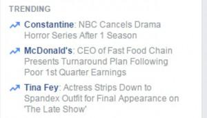 Facebook Trend for Constantine