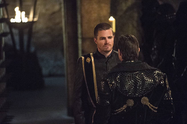 "Arrow -- ""This is Your Sword"" -- Image AR322A_0238b -- Pictured: Stephen Amell as Oliver Queen -- Photo: Cate Cameron/The CW -- © 2015 The CW Network, LLC. All Rights Reserved."