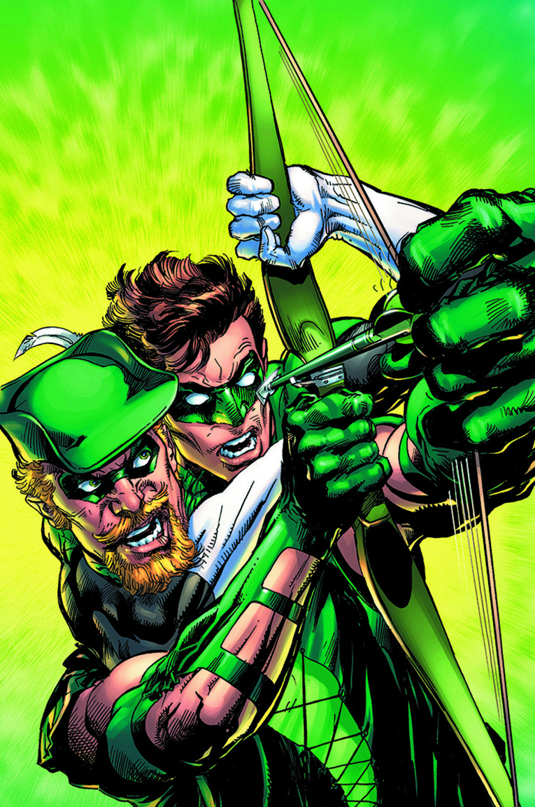 Green Arrow, as a homage to the classic Green Lantern/Green Arrow series